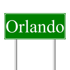Orlando green road sign