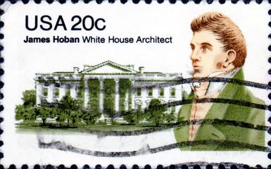James Hoban. 1762-1831.White House Architect. US Postage.