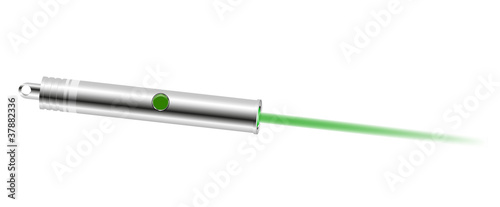 Laser pointer with green light