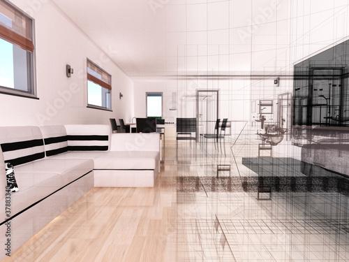 Appartamento rendering 3d interni architettura progetto for Rendering 3d interni