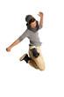Teenager macht Luftsprung