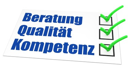 Beratung - Qualität - Kompetenz