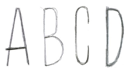 Animated sketch-style english alphabet.