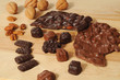 Walnuts, pecans, chocolates, and almond bark