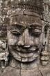 Angkor Thom - Bayon - giant stone face - Cambodia