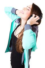 Jugendliche hört Musik