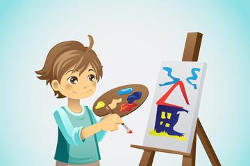 Painting kid