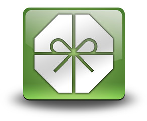 "Green 3D Effect Icon ""Gift / Present"""