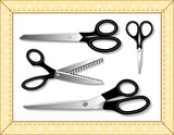 Scissors Collection in Quilted Frame