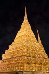 Pagoda at Wat Po temple in Bangkok, Thailand