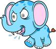 Crazy Elephant Vector Illustration