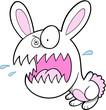 Crazy Bunny Rabbit Vector Illustration