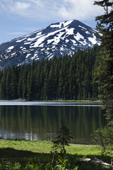 View from Todd Lake to Mt. Bachelor