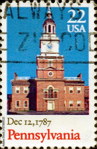 Pensylvania. Dec 12, 1787. US Postage.