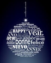 """Boule de noël polyglotte """"Bonne année"""""""