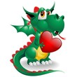 Drago Cucciolo Amore-Baby Dragon Love Symbol 2012-Vector