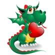 Drago Cucciolo Amore-Baby Dragon Love Symbol 2012-Vector