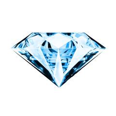 single blue diamond ,front side