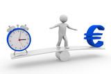 Balance zwischen Zeit und Geld