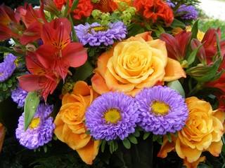 coloured bouquet