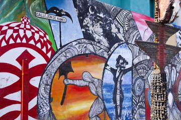 Graffiti Alley Hamel. Havana, Cuba
