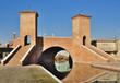 The Trepponti bridge in Comacchio, Ferrara, Italy