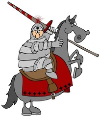 Jouster On A Rearing Horse