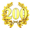 200 twohundred number laurel wreath