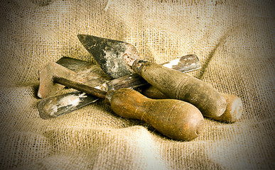 old tools on hessian