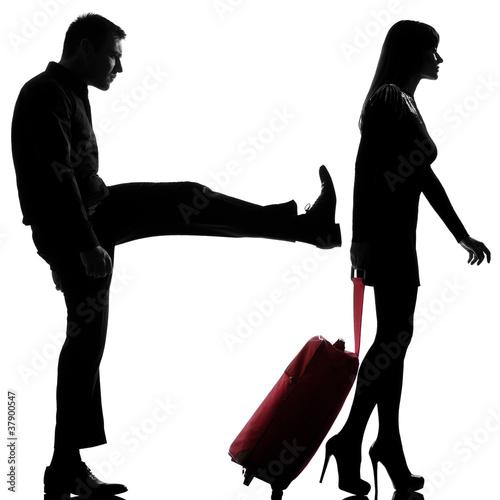 one couple man and woman dispute separation de snaptitude photo libre de droits 37900547 sur. Black Bedroom Furniture Sets. Home Design Ideas