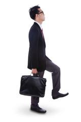 Businessman Climbing Pose