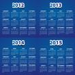 2012 - 2015 calendar