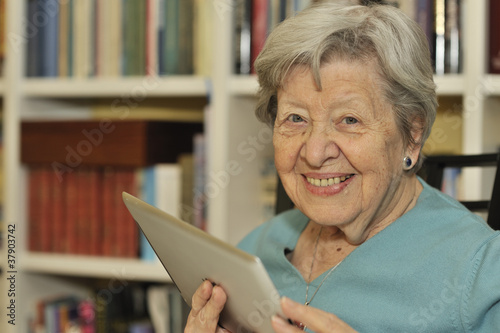 Senior Woman with Tablet PC 2