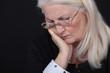 Depressed elderly woman