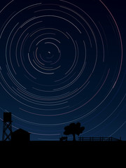 Stars trace circles on the sky