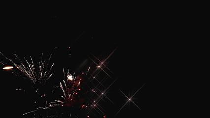 Glittering Fireworks Closeup
