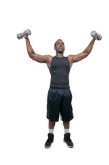 Black Man Lifting Weight