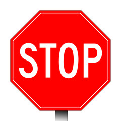 Red stop sign
