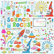 Science Back to School Notebook Doodles Vector Set