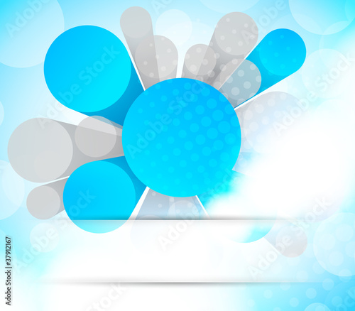 Abstract background with 3d element © Denchik