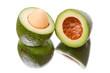 Sliced open avocado