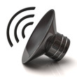 Illustration of black speaker icon