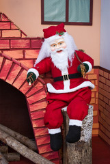 Santa Claus with fireplace
