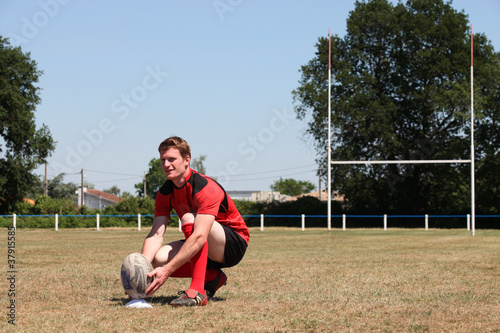 rugby player on field