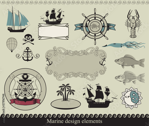 design elements to the marine theme