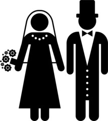 pictogram of a husband and a wife