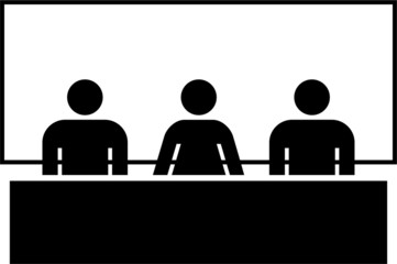 pictogram of people in a conference
