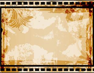 Floral Art Grunge Background
