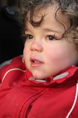 little boy wearing winter jacket