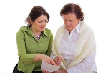 Beratung einer Seniorin